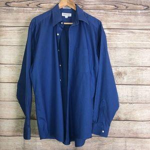 5/$25 Men's Cobalt Blue Button Down Shirt 16 34/35